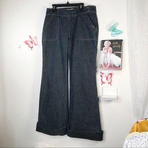 Vintage Old Navy Bellbottom pocket zipper jeans 6